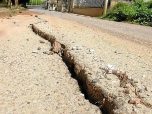 Así lucía el terreno hace mes y medio, en la calle 50, en Lagos del Cacique.