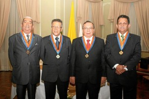 Wilson Pardo Estévez, José Mauricio Marín Mora, Gerónimo Sarmiento y Rodrigo Joya Arenales.