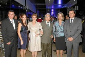 Sergio Marín, Laura Rey, Luz Marina de Marín, Alfonso Marín, Nora Loza de Marín y Rafael Marín.