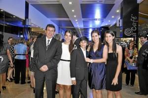 Sergio Marín y su familia.