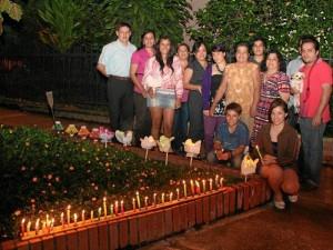 La familia Arévalo Galván se reunió en su casa, cerca al parque San Pío.