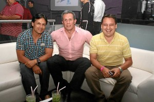 Omar Prada, Julio Jasbón y Wilson Herrera.