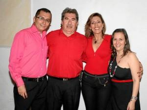 Jorge Alberto Torres Rivera, Jaime Rivera, Rosa Rodríguez Uribe y Olga Lucía Rueda.