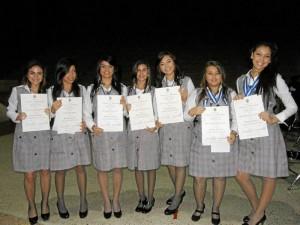 Ana Laura Prada, Estefanía Reyes, Daniela Pérez, Diana Marcela Mendoza, Camila Ospina, María del Pilar González Ducón y Silvia Jaimes.