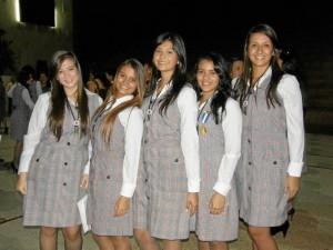 Carolina Velandia, Tatiana Estévez, Mayra Ortiz, Daniela Beleño y Paola Cruz.