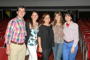 Santiago Vanegas, Isabel Andrea Díaz, Adriana Angarita, Goyi Sarmiento y María Carolina Cote.