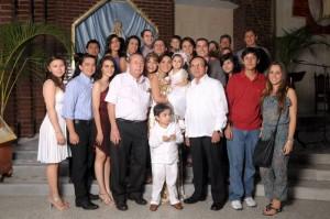 María Anghelina y su familia