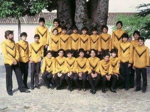 Grupo Éxodo en 1985.