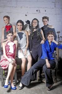 Modelos que participaron en el evento: Laura Rangel, Gabriela Llanes, Laura Reyes, Adriana Reyes, Laura Díaz y Camila Vesga.