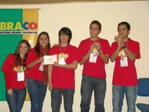 Ganadores del concurso nacional: Silvia R Durán, Francy  Reyes G., Cristian F.spinosa C., Carlos Rincón C. y Camilo Cruz J.