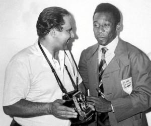 La visita de Pelé le sirvió para tener el recuerdo del más importante jugador de fútbol de la historia.