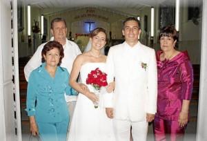 José Santos Pinilla, Ana Dolores López, Gissela Pinilla López, Freddy Gonzalo Blanco Rueda y Luz Stella Rueda.