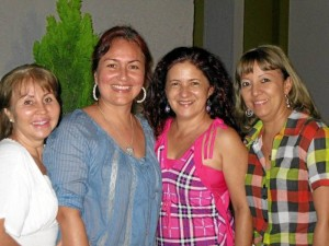 Doris Márquez de Ortiz, Liliana Arenas, Martha Silva y Claudia Flórez.