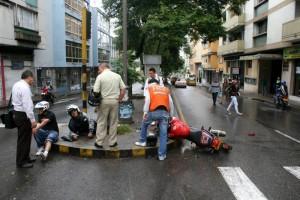 Los accidentes en los que están involucrados motociclistas, son recurrentes en la ciudad.