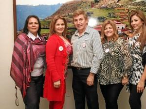 Azucena Carrisoza, Katerine Rey, Juan José Peñaloza, Gloria Patricia Vargas y María Teresa Vargas.