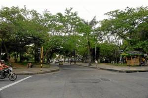 La carrera 35A divide al parque San Pío