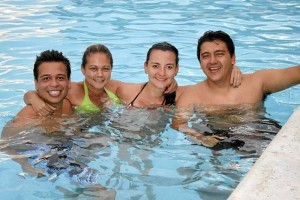 Fabián Díaz, Adriana Sanabria, Diana Rodríguez y Carlos Domínguez.