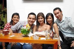 Paula Pimiento, Leonardo López, Luisa Tobo, Carolina Toscano, Car-los Andrés Pérez.