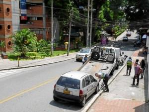Un vehículo fue inmovilizado frente a la Unab.