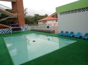 La piscina también se modificó.