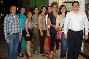 César Ortiz, Leidy Sánchez, Sandra López, Rita Ortiz, Cristina Ramírez, Gloria Villamizar, Diana Bravo, Silvia Vásquez y Julio César Quintero.