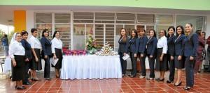 Las docentes de preescolar y las re-ligiosas inauguraron las nuevas instalaciones de esta sección del colegio La Merced.
