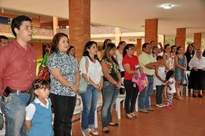 Los padres de familia asistieron a la inauguración y bendición de las ins-talaciones de preescolar del colegio La Merced.