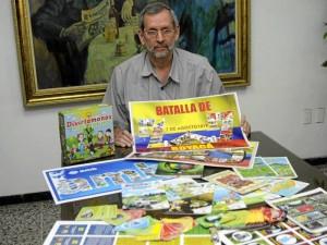 Además de todos los libros, afiches y juegos que ha creado Sergio, también dicta clases sobre medio ambiente.
