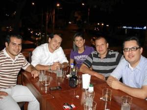 Óscar Andrés Olarte, Diego Galvis, Paula Pimiento, Leonardo Hernández y Félix Quintero.
