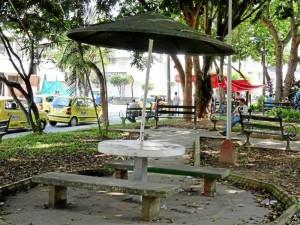 Según los vecinos, el parque casi nunca se barre o rastrilla.
