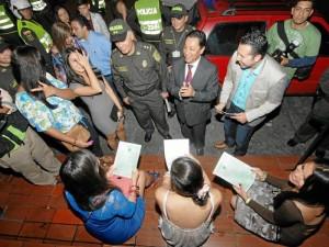 El sábado 3 de marzo se cumplió un operativo en el parque Las Palmas que permitió detectar la presencia de menores pasadas las 11 de la noche y en algunos casos consumiendo licor.