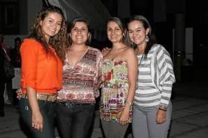 Carolina Otero, Jimena Arenas, Susana Barajas y Mari Luz Villamizar.