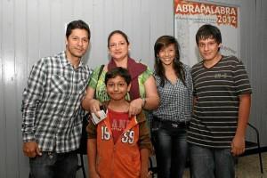Santiago Llano, Diego Llano, Laura Barrera, Camilo Ri-vera y Juan Diego Llano.