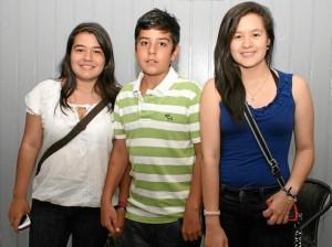 Silvia Rueda, Gabriel Rueda y Alejandra Carreño.