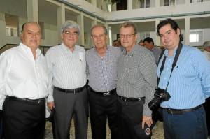William Serrano, Nilson Pinilla, Alberto Montoya, Rafael Serrano y Guillermo Serrano Liévano.