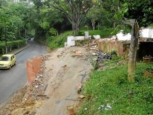 El derribo de la casa se hizo esta semana por operarios del Clopad Bucaramanga.