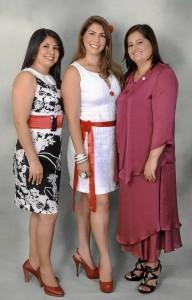 Marisol Olaya Rueda, Claudia Johana Serrano Duarte y Amparo Tristancho Torres.