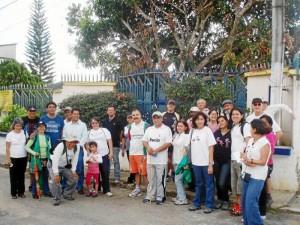 La caminata sirvió para conocer los testimonios de quienes en esa época vi-vieron de cerca la tragedia.