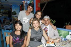 Silvia Sarmiento, Natalia Castillo, Carlos Sarmiento, Carlos Alberto Sarmiento y Análida Villamizar.