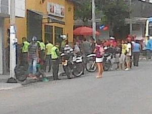 Esta escena ocurrió un domingo en la tarde en la calle 37 con carrera 33.