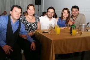 Fernando Salazar, Diana Marcela Calles, Gerardo Santamaría, Caterine Hernández y Hernando Galvis.