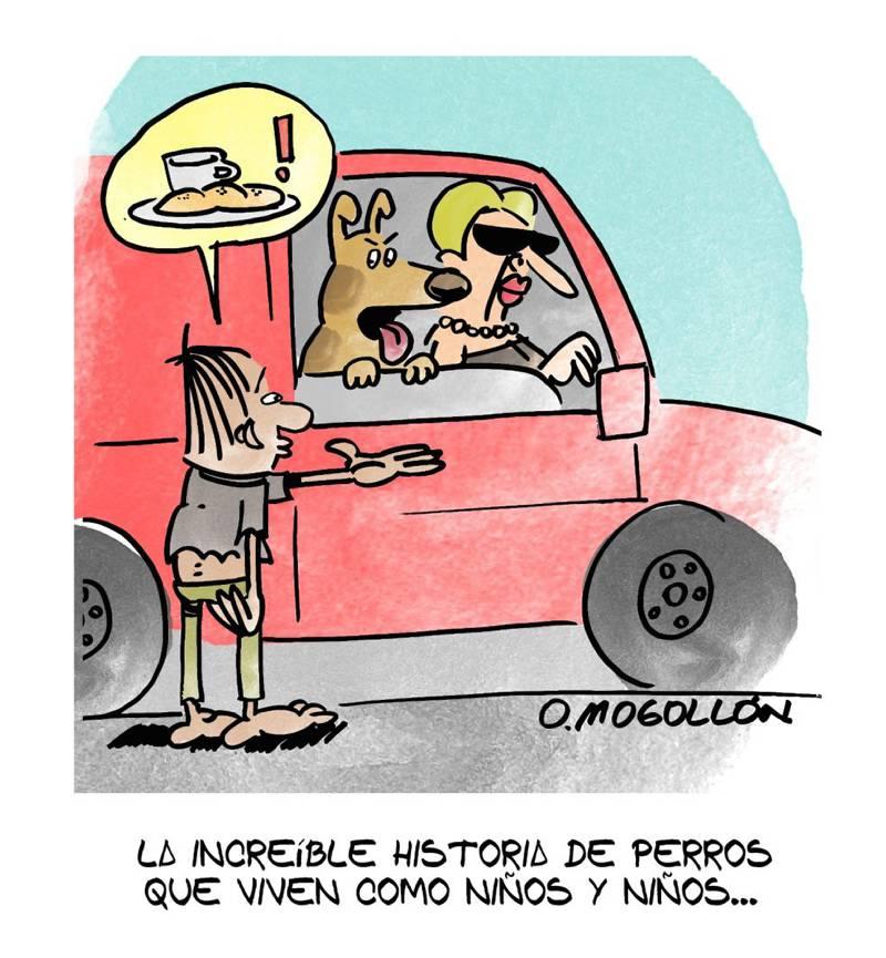 Caricatura: Hablando de perros que viven como niños…