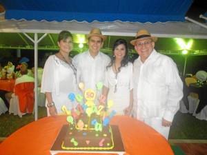 Janeth Guarín Bermúdez, Luis Miguel Parra Guarín, María Camila Parra Guarín y Miguel Ángel Parra Villarreal.