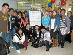 Los estudiantes arri-baron a Yarmouth, Nova Scotia.