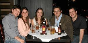Sergio Sanmiguel, Ga-briela García, Daniela Velásquez, Andrés Cote y Santiago Trillos.