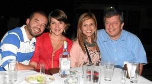 Juan Manuel Fortum, Lina Alejandra Carreño, Marcela Meneses y Juan Manuel Higuera.