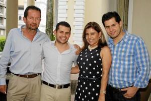 Oswaldo Silva, Lucas Silva Rueda, Irma Susana de Silva y Nicolás Silva Rueda.