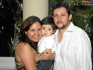Silvia Segura, Isaías Federico Higuera y Federico Higuera.