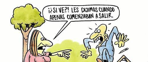 Caricatura: 'Raíces'