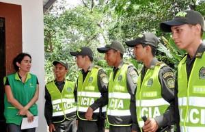 Durante una semana se están capacitando los auxiliares de Policía.